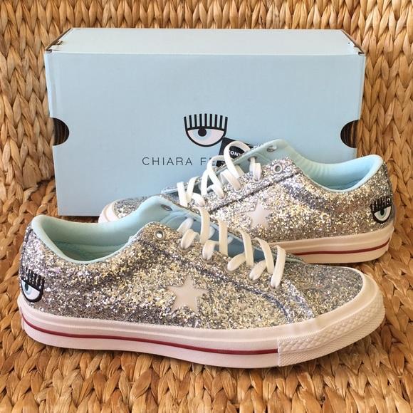 b486c57097a9 NIB Converse x Chiara Ferragni Silver Sneaker